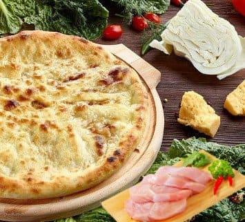 Осетинские пироги c курицей капустой и сыром