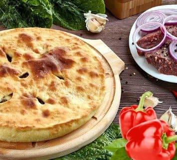 Осетинские пироги c мясом и болгарским перцем