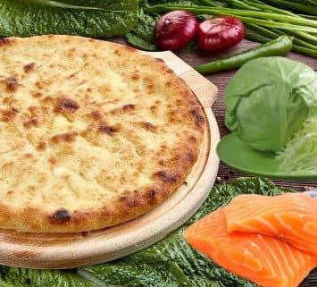 Осетинские пироги c лососем и капустой