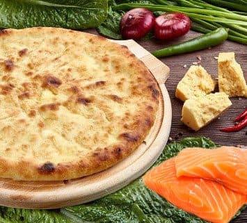 Осетинские пироги c лососем и сыром
