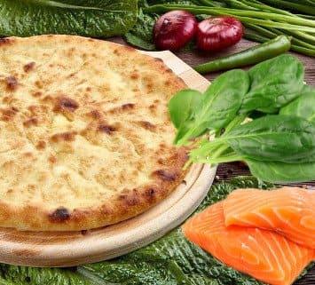 Осетинские пироги c лососем и зеленью