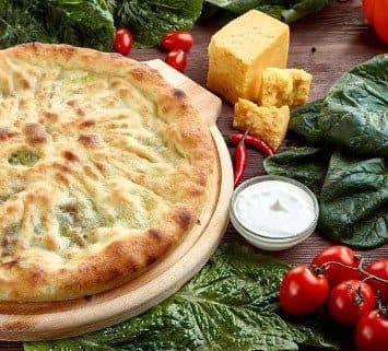Осетинские пироги c сыром и шпинатом