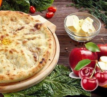 Осетинские пироги c яблоком и вишней